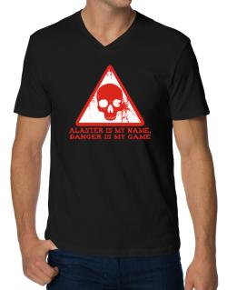 Alaster Is My Name, Danger Is My Game V-Neck T-Shirt
