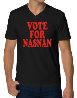 Vote For Nasnan V-Neck T-Shirt