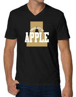 Property Of Apple V-Neck T-Shirt