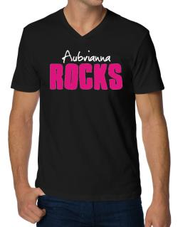 Aubrianna Rocks V-Neck T-Shirt