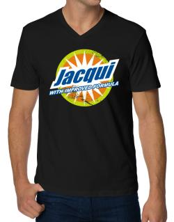 Jacqui - With Improved Formula V-Neck T-Shirt