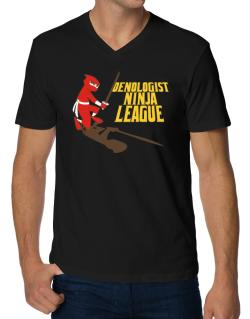 Oenologist Ninja League V-Neck T-Shirt
