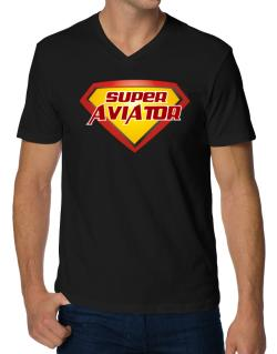 Super Aviator V-Neck T-Shirt