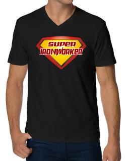 Super Ironworker V-Neck T-Shirt