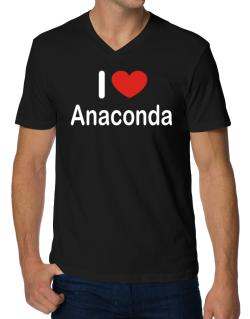 I Love Anaconda V-Neck T-Shirt