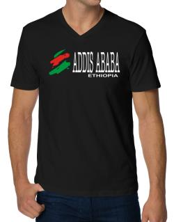 Brush Addis Ababa V-Neck T-Shirt