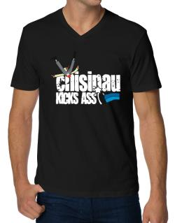 Chisinau Kicks Ass V-Neck T-Shirt