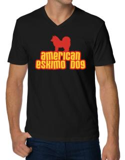 Breed Color American Eskimo Dog V-Neck T-Shirt