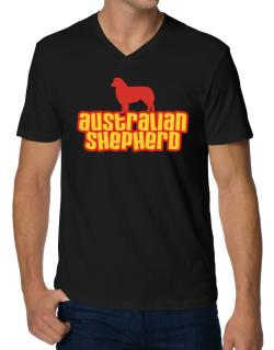 Breed Color Australian Shepherd V-Neck T-Shirt