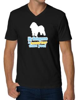 My Bolognese Is Smarter Than You ! V-Neck T-Shirt