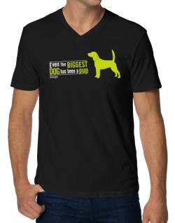 Even The Biggest Dog Has Been A Pup - Beagle V-Neck T-Shirt