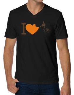I love Australian Cattle Dogs V-Neck T-Shirt