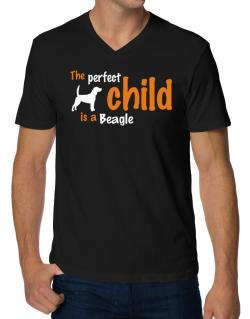 The Perfect Child Is A Beagle V-Neck T-Shirt