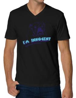I'm Innocent American Bulldog V-Neck T-Shirt