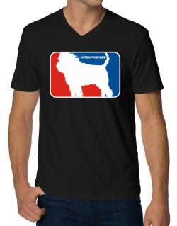 Affenpinscher Sports Logo  V-Neck T-Shirt