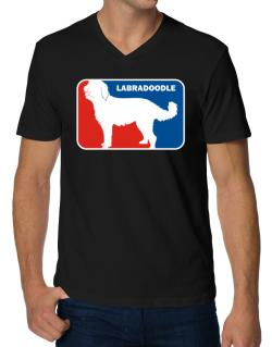 Labradoodle Sports Logo V-Neck T-Shirt