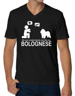 No One Understands Me Like My Bolognese V-Neck T-Shirt