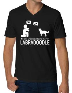 No One Understands Me Like My Labradoodle V-Neck T-Shirt