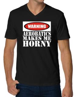 Aerobatics Horny V-Neck T-Shirt