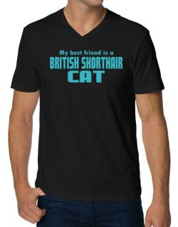 My Best Friend Is A British Shorthair V-Neck T-Shirt