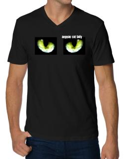 Aegean Cat Lady V-Neck T-Shirt