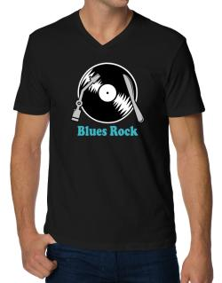 Blues Rock - Lp V-Neck T-Shirt