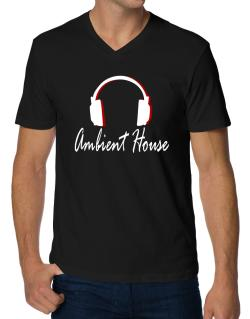 Ambient House - Headphones V-Neck T-Shirt