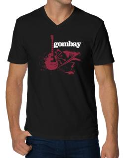 Gombay - Feel The Music V-Neck T-Shirt
