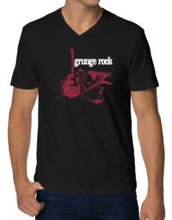 Grunge Rock - Feel The Music V-Neck T-Shirt