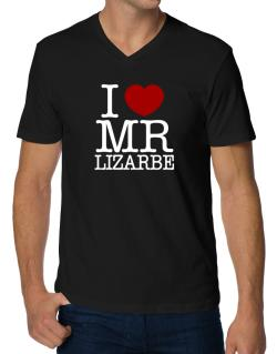 I Love Mr Lizarbe V-Neck T-Shirt