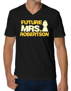 Future Mrs. Robertson V-Neck T-Shirt