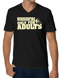 Windsurfing Only For Adults V-Neck T-Shirt
