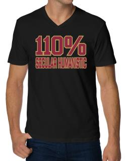 110% Secular Humanistic V-Neck T-Shirt