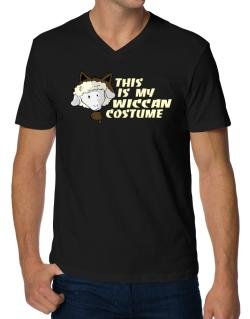 This Is My Wiccan Costume V-Neck T-Shirt