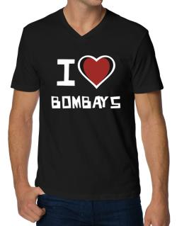 I Love Bombays V-Neck T-Shirt