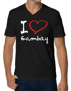 I Love Gombay V-Neck T-Shirt