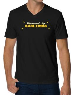 Powered By Anaconda V-Neck T-Shirt