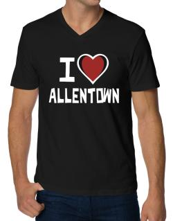I Love Allentown V-Neck T-Shirt