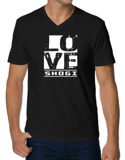 Love Shogi V-Neck T-Shirt