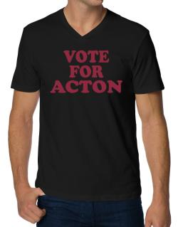 Vote For Acton V-Neck T-Shirt