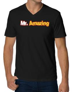 Mr. Amazing V-Neck T-Shirt