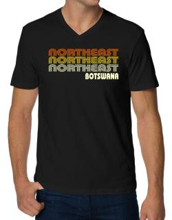 Retro Color Northeast V-Neck T-Shirt