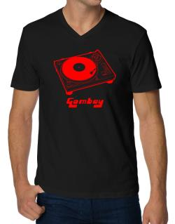 Retro Gombay - Music V-Neck T-Shirt