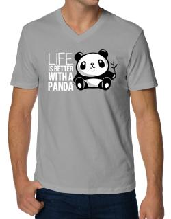 Polo Cuello V de Life is better with a panda