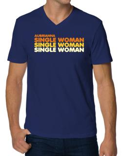 Aubrianna Single Woman V-Neck T-Shirt