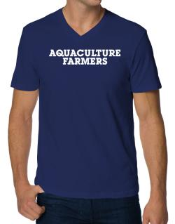 Aquaculture Farmers Simple V-Neck T-Shirt