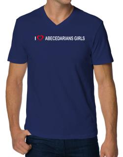 I love Abecedarians Girls  V-Neck T-Shirt