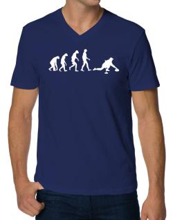 Curling Evolution V-Neck T-Shirt