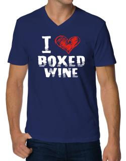 I love boxed wine V-Neck T-Shirt
