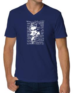 Beethoven symphony V-Neck T-Shirt